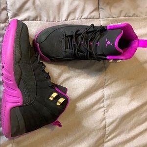Purple and black air Jordan